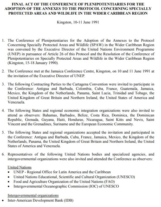 SPAW Final Act Resolutions Document